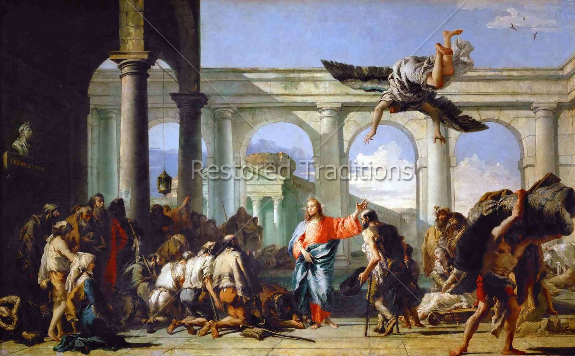 Jesus Healing The Paralytic At Pool Of Bethesda