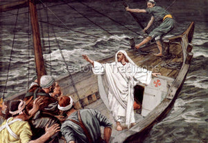 Jesus Standing in the Boat