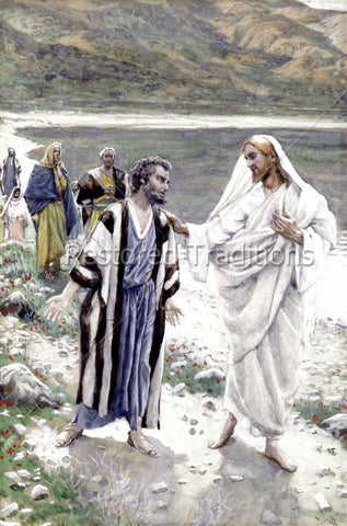 Jesus and Peter by the sea