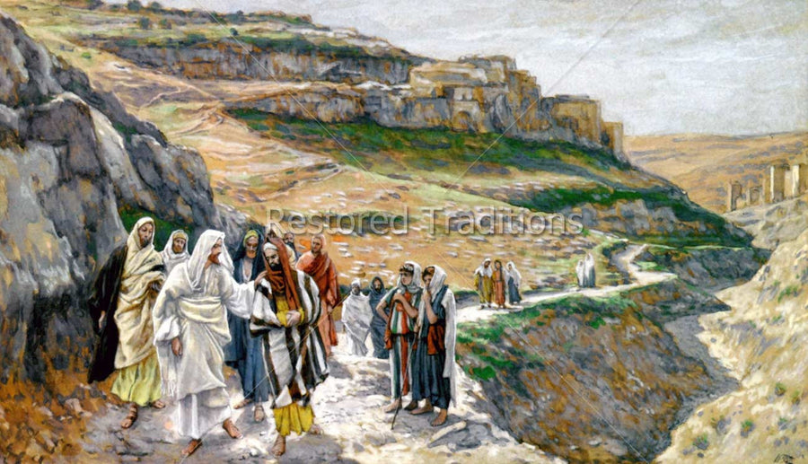 Christ Walking with Apostles