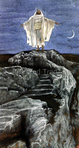 Jesus Goes Alone to a Mountain to Pray – Tissot