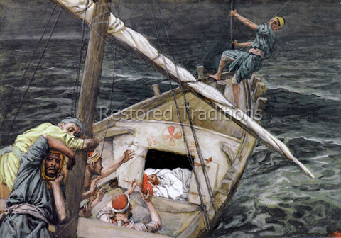 Jesus Sleeping during the Tempest – Tissot