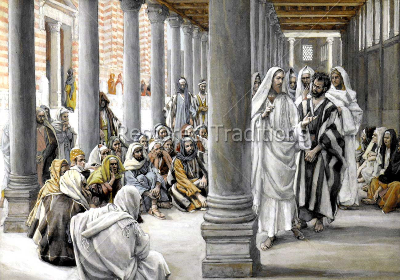 Jesus Walks in the Portico of Solomon | High Resolution Image ...