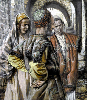 Jewish man with two sons
