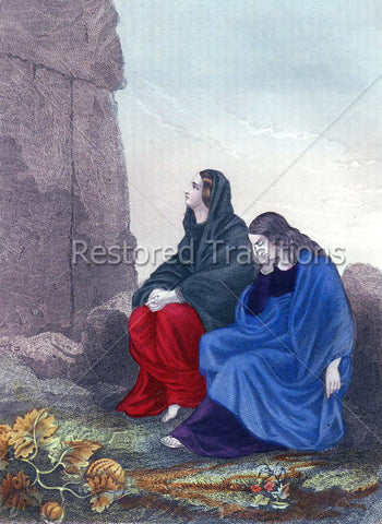 Magdalene and the mother of James at tomb