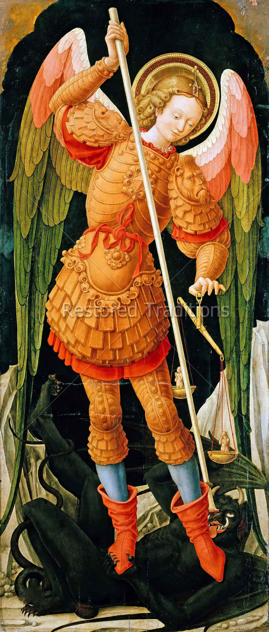 St. Michael Standing on Devil