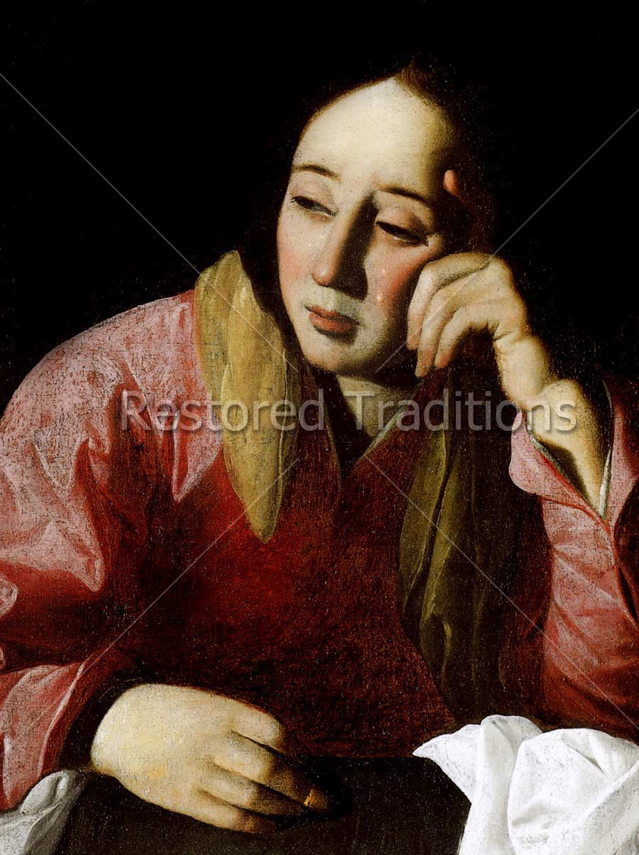 Mother Mary Crying