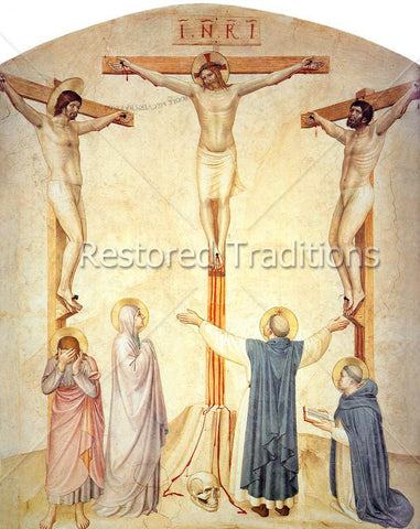Christ on Cross & Dominican Saints