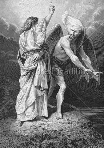 Satan Tempting Jesus in Desert