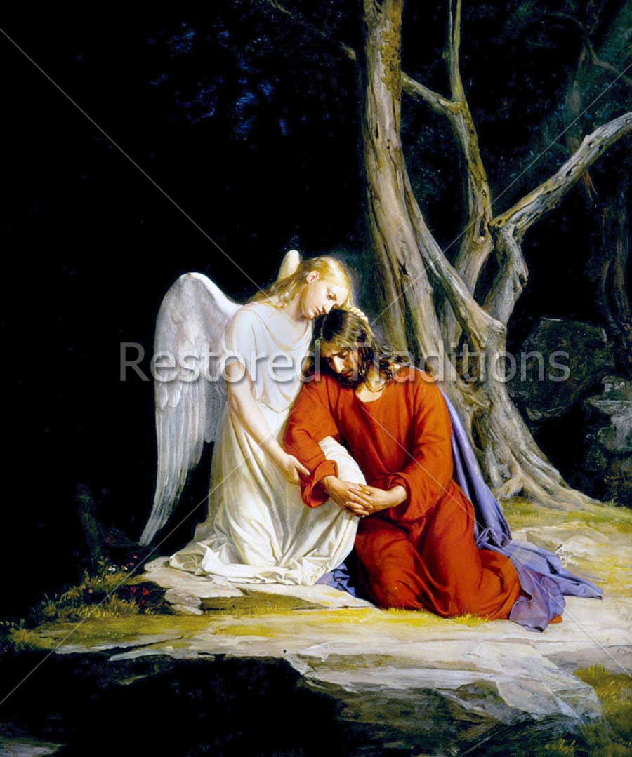 Christ Comforted by Angel