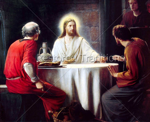 Christ Eating with Disciples