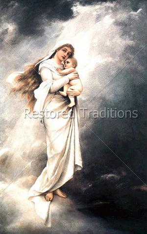Madonna and Child on Clouds