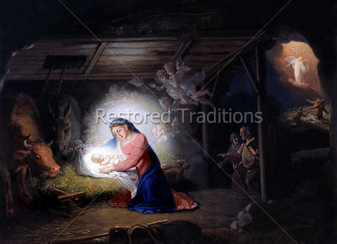 Mary Adores Christ Child