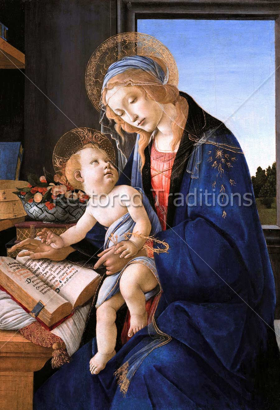 Madonna and Child Reading Book