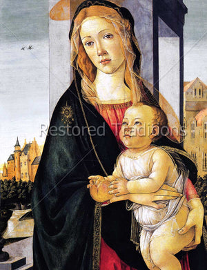 Virgin Mary Holds Infant Christ