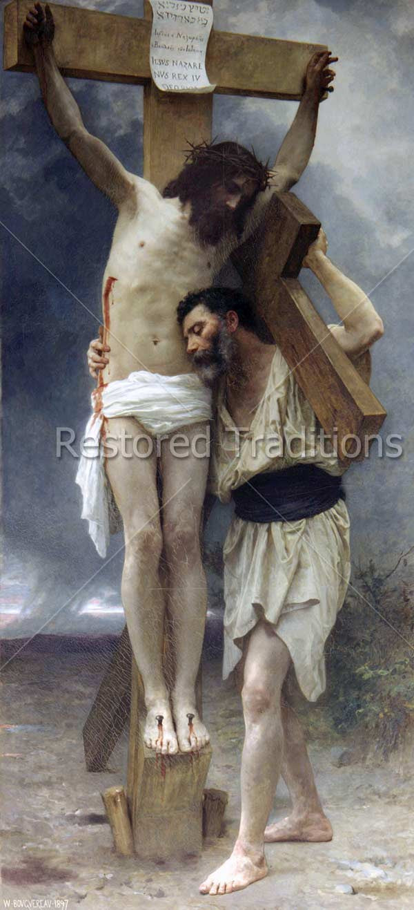 Man Helps Jesus Down from Cross