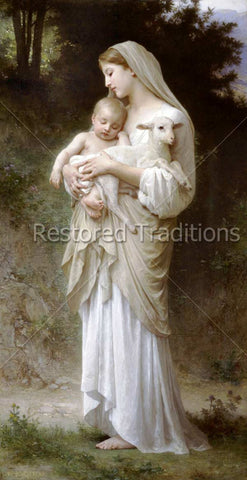 Mother, Child and Lamb