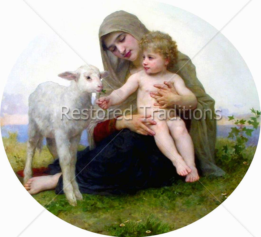 Jesus, Madonna and Lamb