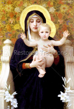 Virgin Mary Holding Infant Jesus