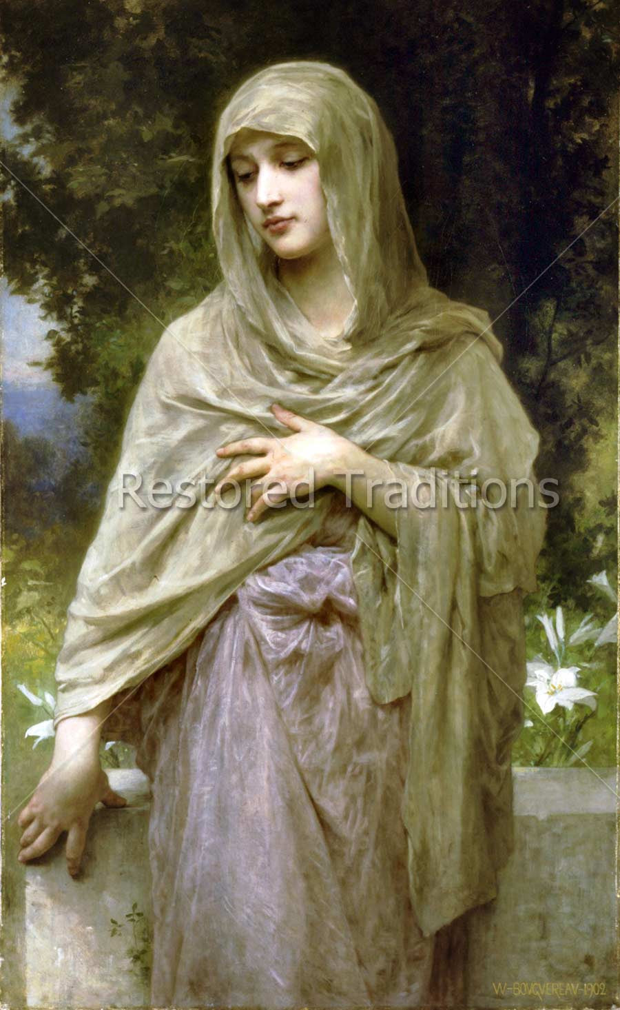 Woman Wearing Long Veil