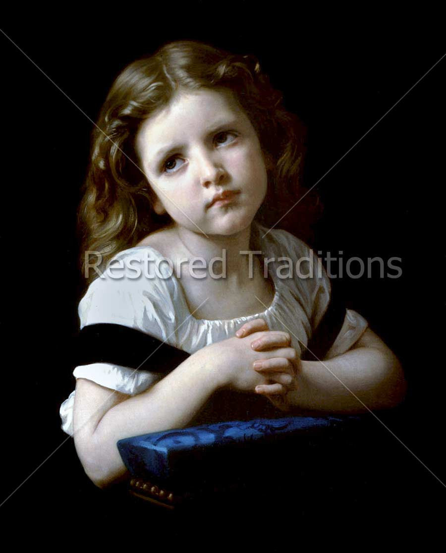 Download Stock Art By Bouguereaulittle Girl Praying With Folded Hands