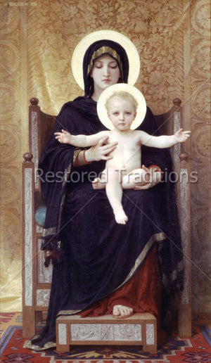 Mother Mary and Jesus with Out Stretched Arms