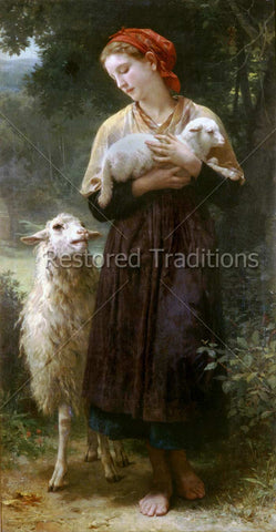 Woman Holding White Lamb
