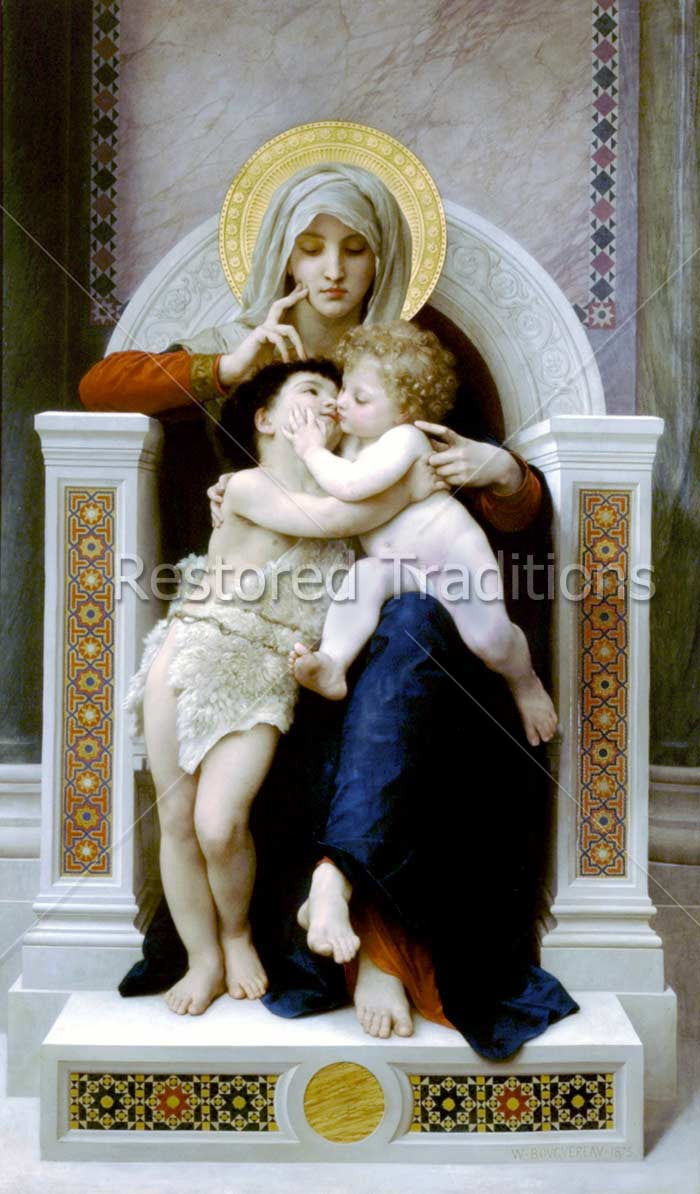 Download bouguereau art of virgin mary with john baptist - Child jesus images download ...