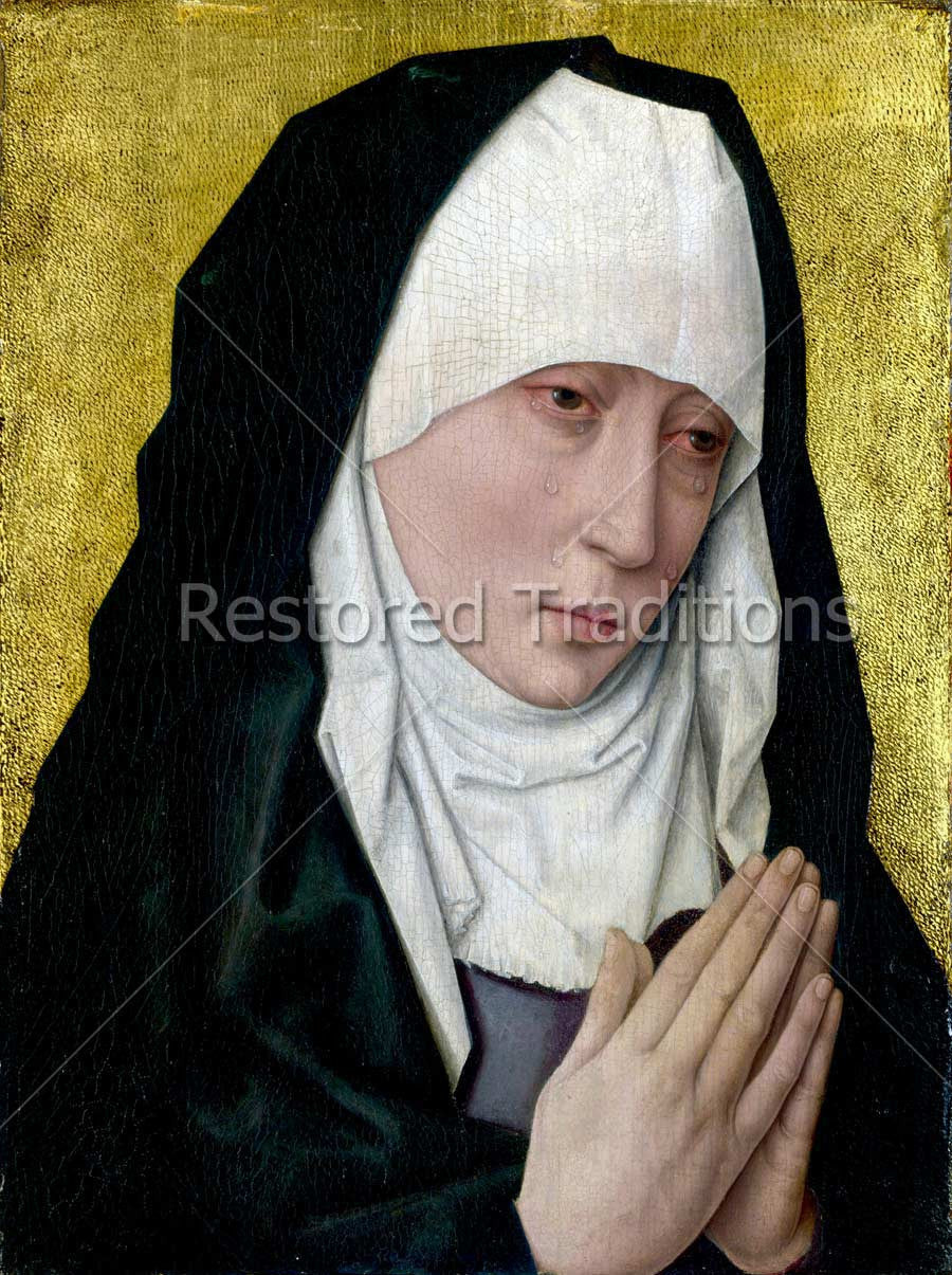 Sorrowful Virgin With Folded Hands