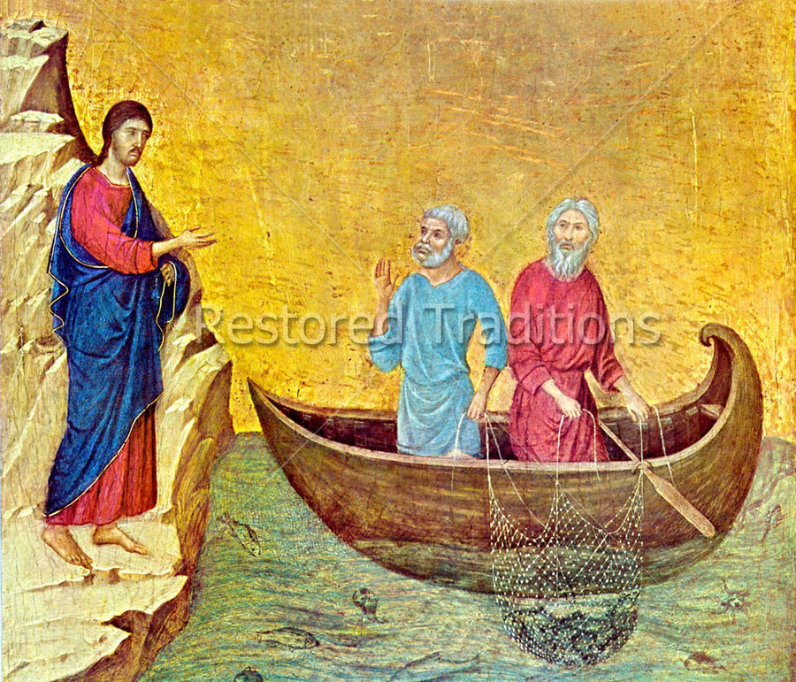 Savior beckoning to fishermen