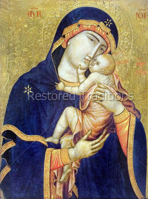 Byzantine Icon Madonna and Child