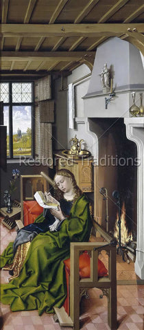 St. Barbara Reading a Book