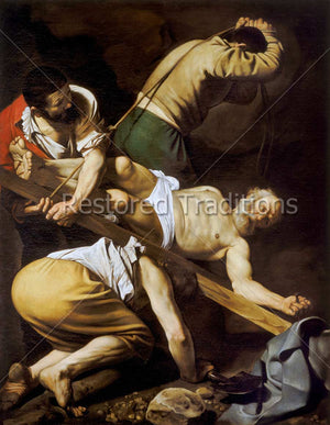 Saint Peter Martyred on Cross