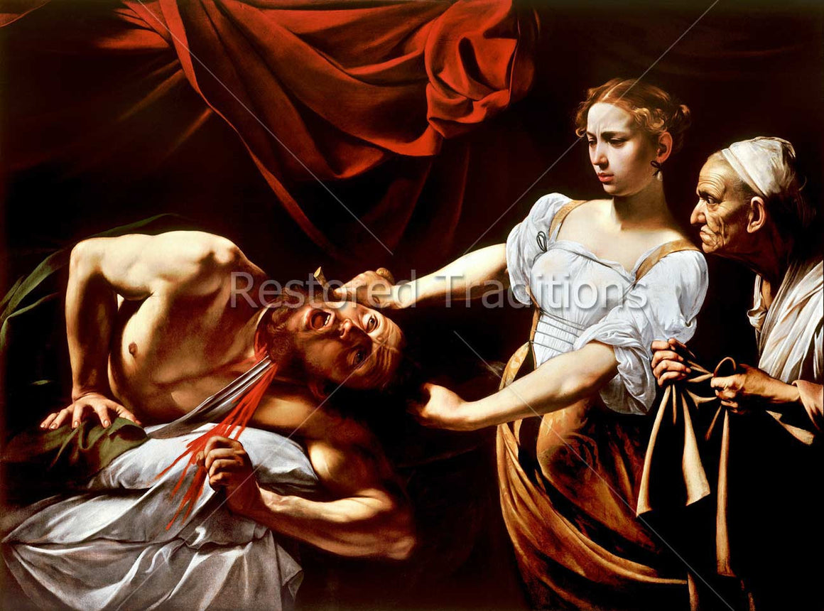 Judith Cutting off Head in Tent