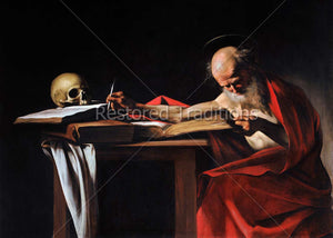 Saint Jerome translating Bible