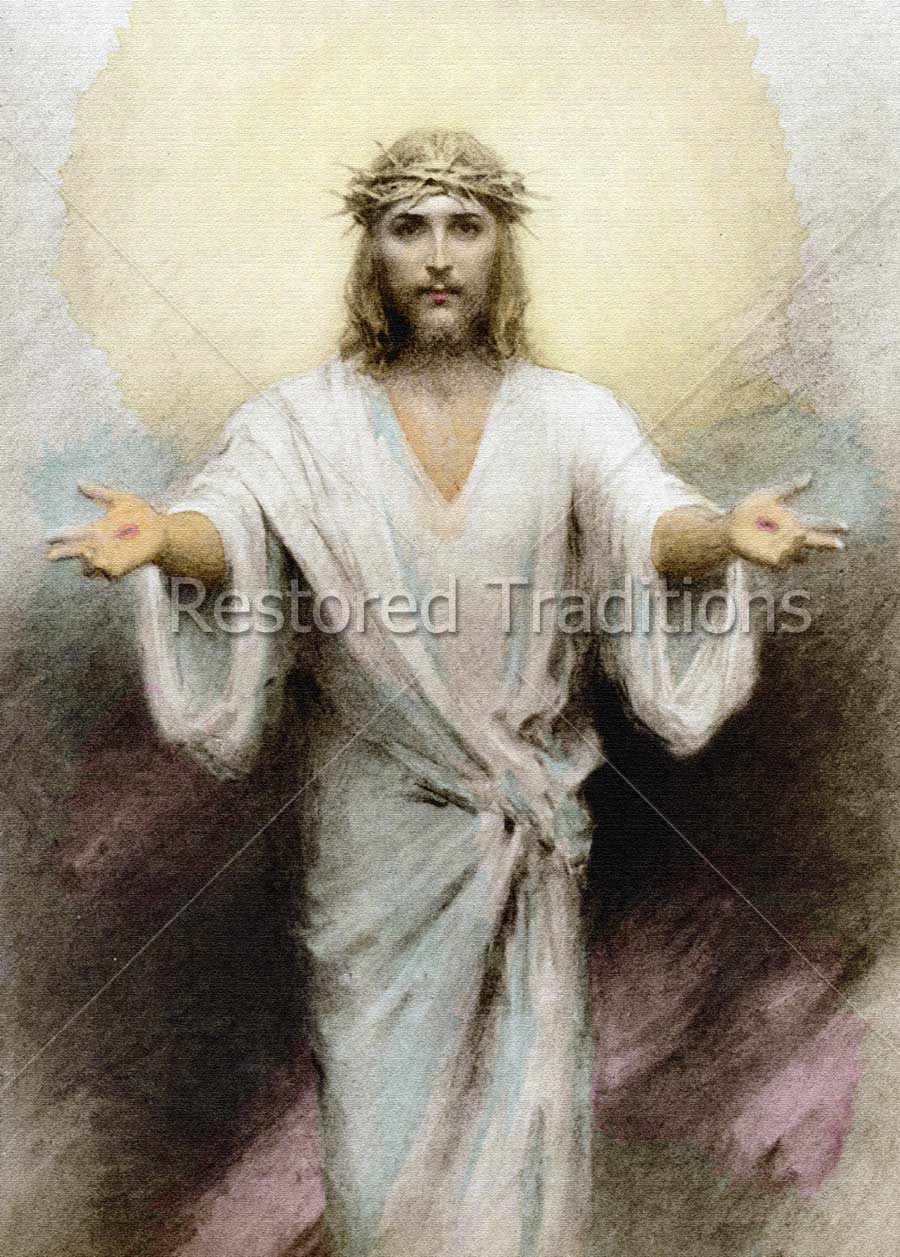 Christ Opening Arms to Everyone