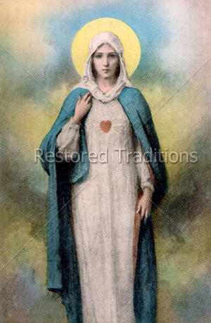Mother Mary With Heart