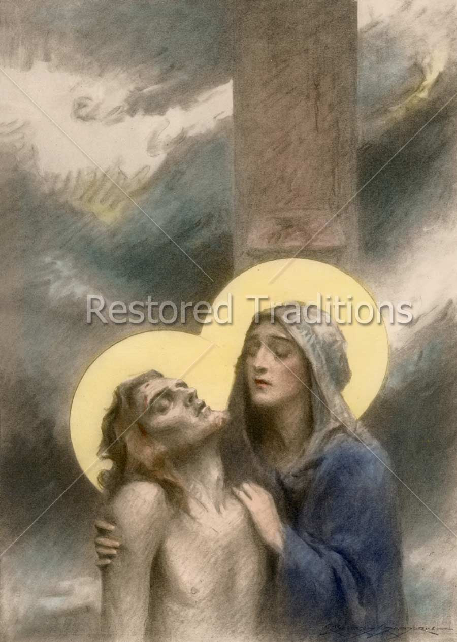 Mary Holding Christ on Calvary