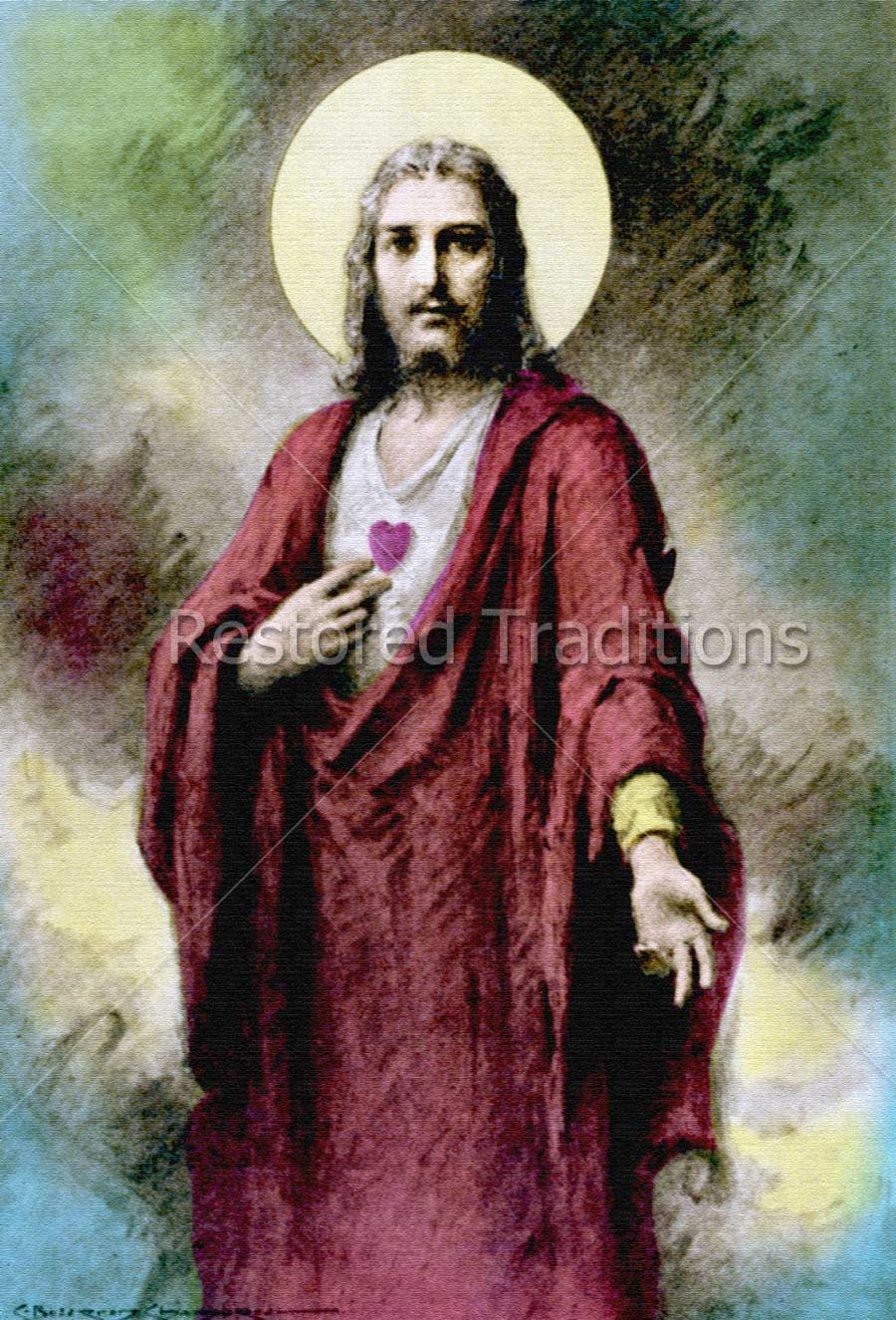 Jesus Christ Pointing to Heart