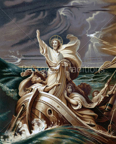 Jesus Stops Storm at Sea