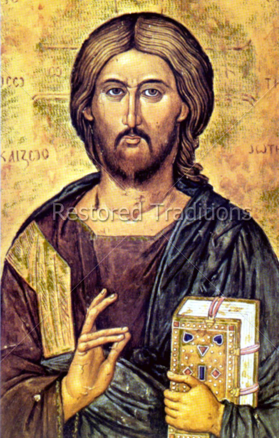 Jesus Blessing Icon
