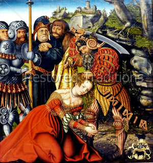 Artwork by Cranach of Saint Barbara