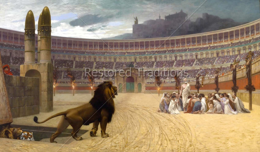 Christians Fed to Lions in Coliseum