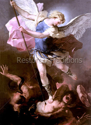 Saint Michael Crushes Satan