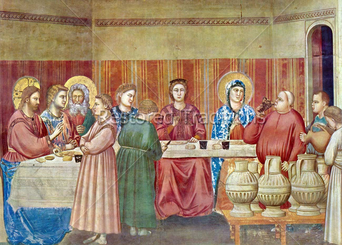 Wedding Feast At Cana.Marriage At Cana Giotto