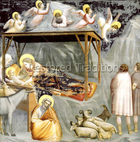 Birth of Christ in Stable