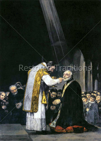 Kneeling Joseph Receiving Holy Eucharist