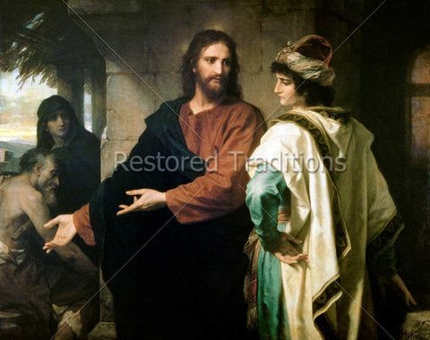 Jesus Speaking with Rich Man