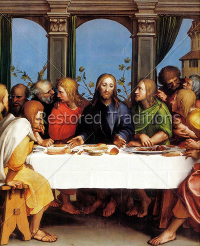 Christ Eating with Apostles