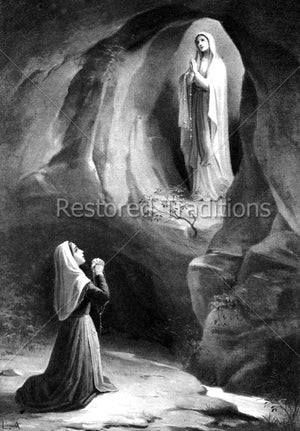 Virgin Appearing to Saint Bernadette
